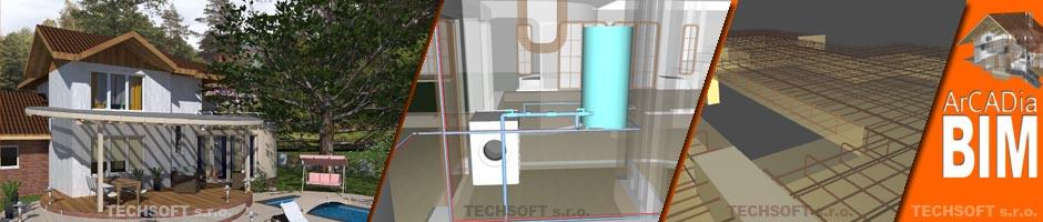 ArCADia BIM CAD Software - Komplexné BIM riešenie pre architektúru aj profesie (Elektro, Vykurovanie, Kanalizácia, ...)